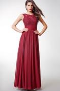 A-Line Beaded Chiffon Long Prom Dress