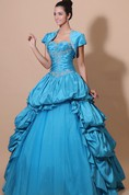 Sweetheart Sleeveless Quinceanera A-Line Ball Gown With Pick-Up Ruffles