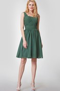 Vintage Sleeveless Short Chiffon Dress With Ruching
