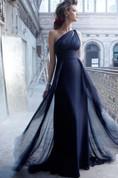 Elegant One Shoulder Long Chiffon Prom Dress