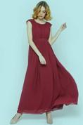 Marsala Modest Bridesmaid Dress