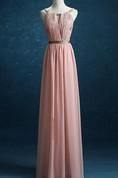 Floor-length Chiffon&Satin Dress