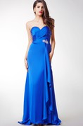 Sweetheart Empire Floor-length Gown with Front Draping