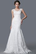 Ethereal Wedding Dress With a Full Skirt and Fitted Detail and Moveable Straps