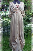 Edwardian Taupe Downton Abbey Inspired Handmade In England Lady Mary Styled Express Delivery Dress
