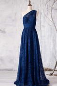 2016 Navy Lace Bridesmaid Dress