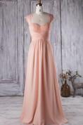 Floor-length Sweetheart Chiffon&Lace Dress