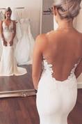 Noble Sleeveless Lace Appliques 2016 Wedding Dresses Mermaid on Sale