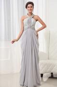 Graceful Vintage Halter A-Line Gown With Bodice Crystal Detailing Details