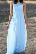 Empire Floor-length Sweetheart Empire Chiffon Dress With Illusion