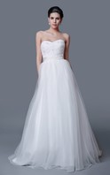 Noble Strapless Backless Floral Organza Ball Gown