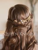Vintage Western Style Style Golden Olive Leaf Hair Comb