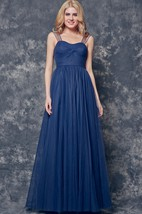 A-line Ruched Long Satin Dress With Illusion Sleeve