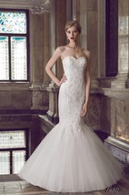 Mermaid Strapped Tulle Lace Dress With Beading Corset Back