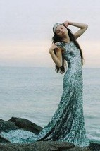 Sheath Sequins Cap Sleeve Dress With Pleats