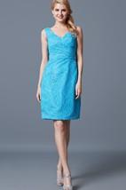 Classic Sleeveless Short Lace Dress With V Neckline