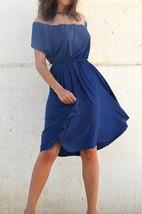 Fall Blue Bridesmaid Full Circle Knee Length Bridesmaid Dress