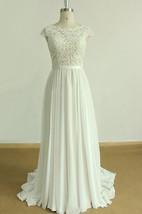 A-Line Chiffon Lace Satin Weddig Dress