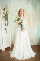 Kora High Necked Wedding Open Back Dress