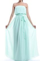 A-line Strapless Chiffon Dress