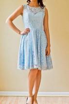 A-line Short Sleeveless Sleeve Chiffon&Lace Dress