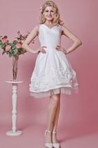 Sleeveless V-neck Diagonal Pleats Midi Multilayered Dress