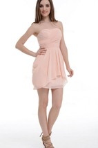 A-line Short Strapped Chiffon Dress