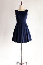 Vintage Inspired Cocktail Bridesmaid Dress With Bow