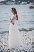 Corset Wedding With Lace Bodice Dress