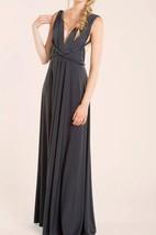 Maxi Sleeveless Sleeve Jersey&Satin Dress