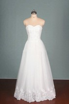 Sleeveless Sweatheart Tulle Dress With Appliques And Beading Detail