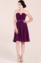 Notched Neck A-Line Short Bridesmaid Dress