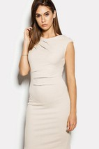 Sleeveless Pencil Dress With Low-v Back