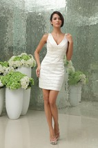 V-Neck Strapless Stylish Gown With Crystal Detailing Detailing