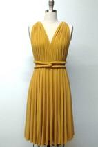 Mustard Yellow Short Infinity Convertible Formal Multiway Wrap Bridesmaid Toga Cocktail Evening Wedding Dress