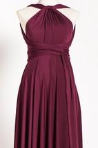 Marsala Maternity Infinity Long Convertible Dress