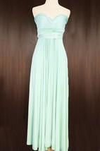 Maxi Mint Bridesmaid Convertible Wrap Dress