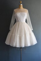 Dawn 60S Short Wedding 1960S Weddig Dress