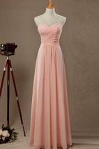 2016 Sweetheart Strapless Blush Bridesmaid Dress
