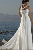 Casual Asymmetric Straps Sweetheart Empire Chiffon Dress