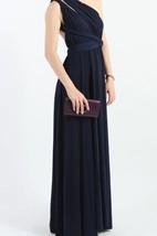 Navy Blue Floor-length Jersey Dress