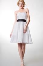 Sweetheart Knee-Length Lace Bridesmaid Dress