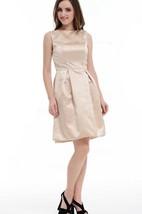 A-line Mini Strapped Taffeta Dress