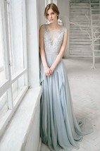 Sleeveless Floor-length Bridesmaid Dress With Lace And Beading