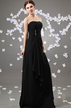 Enchanting Strapless Maxi Chiffon Dress With Ruching And Ruffle