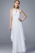 Jewel Neck A-line Chiffon Wedding Dress