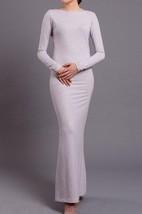Floor-length Scoop Jersey Dress With Split