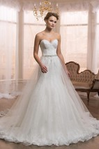 Sweetheart A-Line Ball Gown Tulle Dress With Beading And Lace