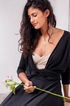 Lace&Jersey Dress With Sash Ribbon