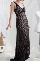 Backless Lace Dress With Beading&Embroideries